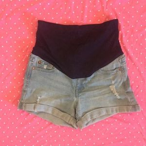 Pinkblush maternity denim short shorts